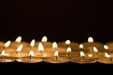 Memorial Service Funeral Candles