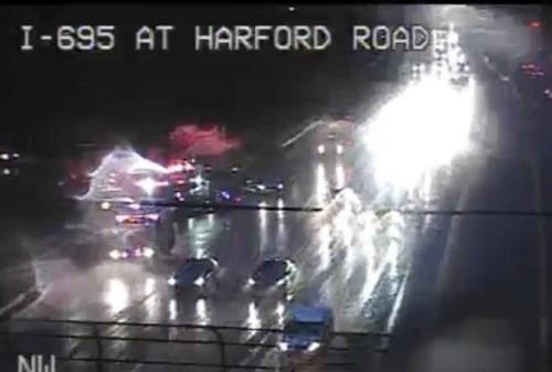 I-695 Crash Harford Road 20190613