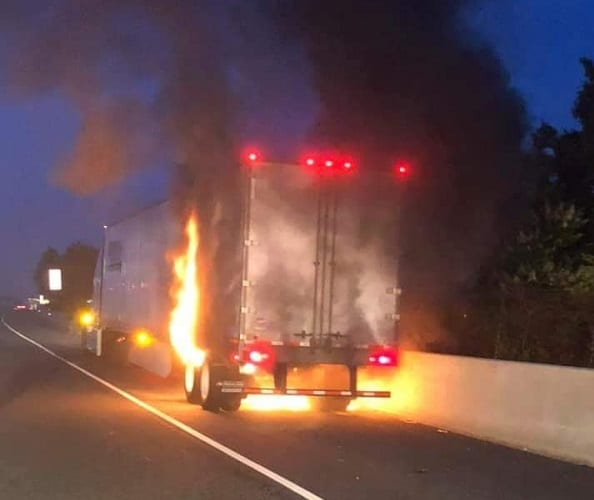 Tractor Trailer Fire I-95 20190606
