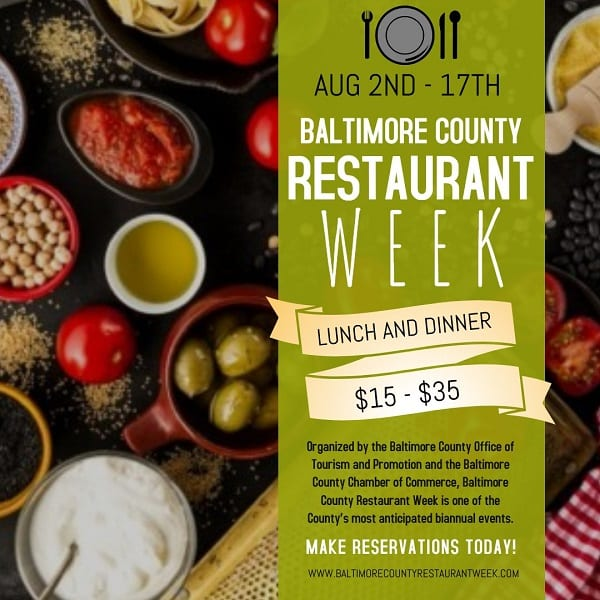 Baltimore County Restaurant Week 2019