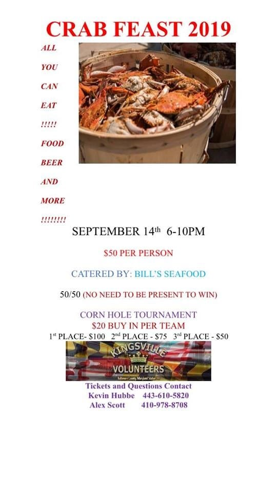 Kingsville VFC Crab Feast 2019