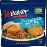 Tyson Foods Weaver Chicken Breast Patties