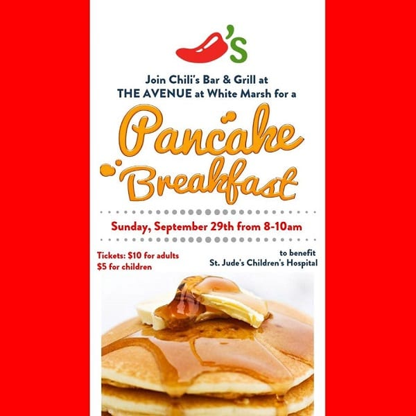Chilis St Jude Pancake Breakfast