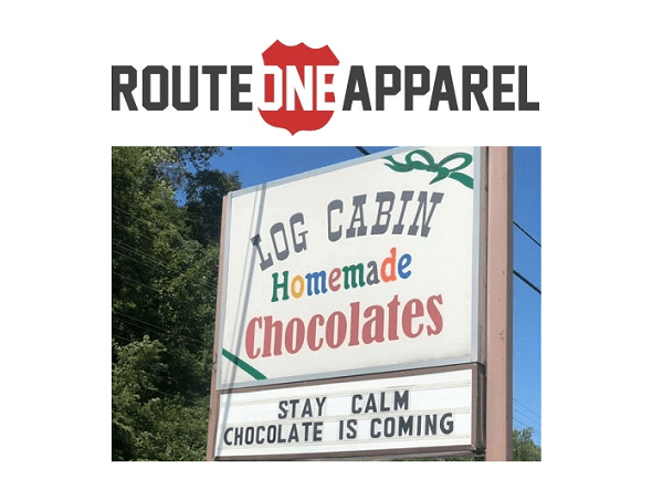 Route One Apparel Log Cabin Chocolates