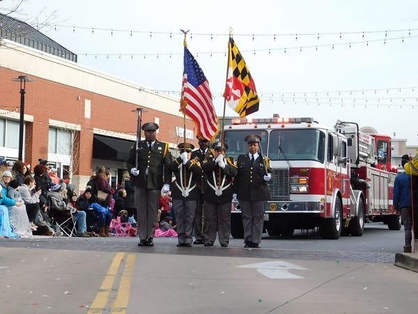 The Avenue Christmas Parade 2019 Color Guard