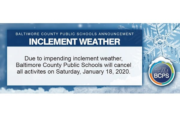 BCPS Inclement Weather 20200117