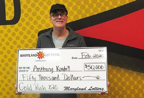 MD Lottery Gold Rush Kordell