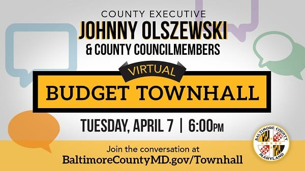 Baltimore County COVID-19 Budget Town Hall