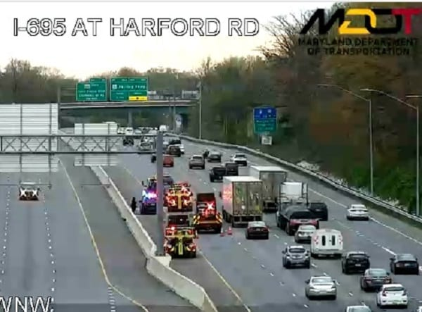 I-695 Crash Harford Road 20200414