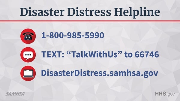 SAMHSA Disaster Distress Hotline