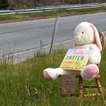 Stolen Easter Bunny Chair Parkville MD 20200413