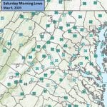 NWS Maryland Morning Lows 20200509