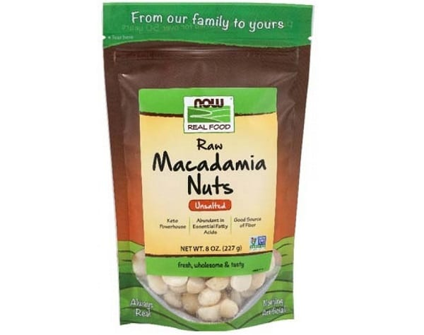 NOW Real Food Raw Macadamia Nuts