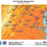 NWS Maryland High Temps 20200603