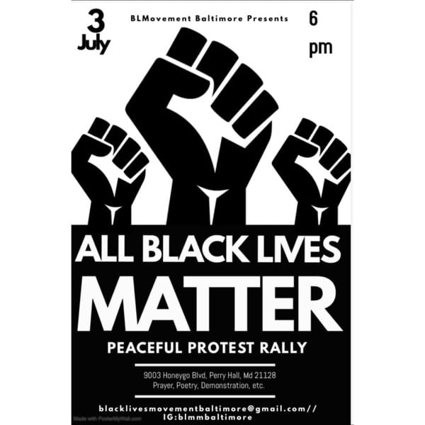 All Black Lives Matter Perry Hall