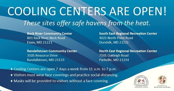 Baltimore County Cooling Centers