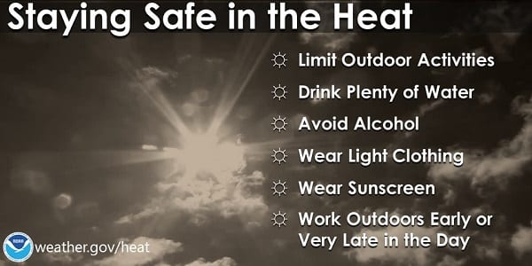 NWS Heat Safety Tips