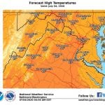 NWS Maryland High Temp 20200704