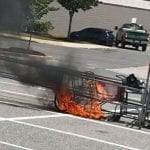 Shopping Cart Fire Target White Marsh 202007