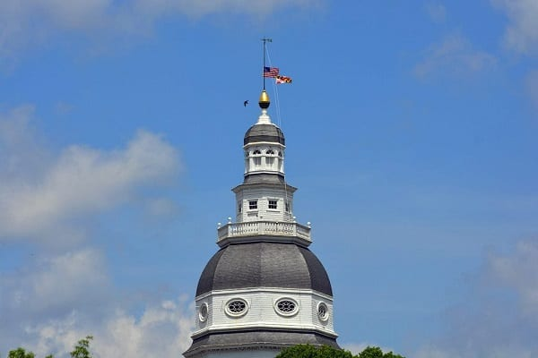 US Maryland Flags Lowered