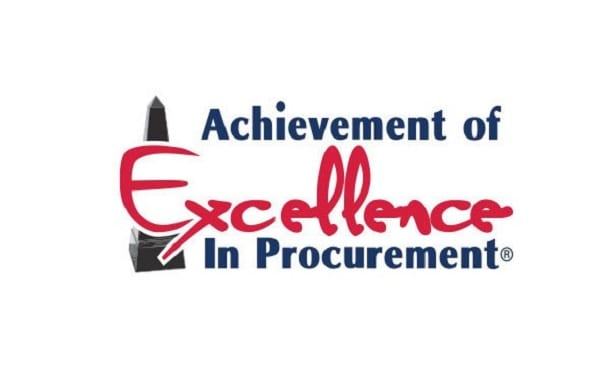 Achievement of Excellence in Procurement