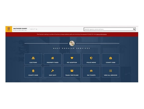 Baltimore County Government Website Redesign