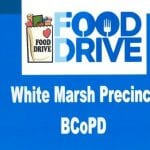 White Marsh Precinct Food Drive
