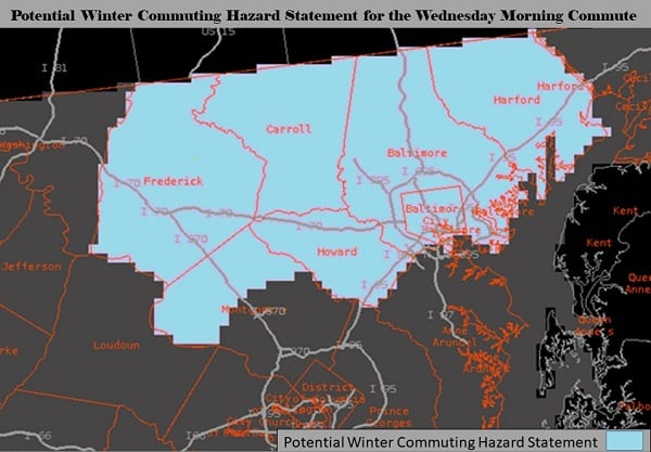 NWS Baltimore Winter Weather Statement 20201208