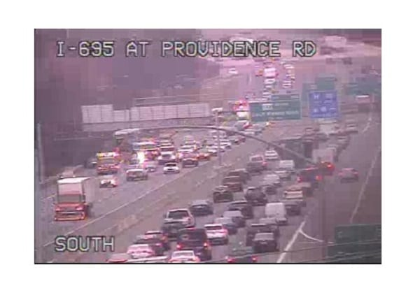 I-695 Crash Providence Road 20210115