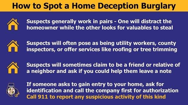 Baltimore County Police Department Deception Burglary Tips