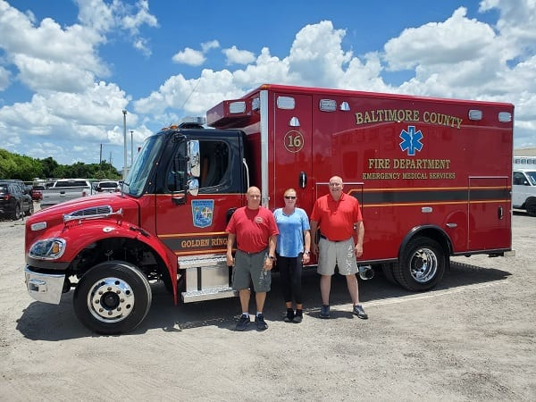 Baltimore County Fire Department Golden Ring Ambulance Medic Unit 20210614
