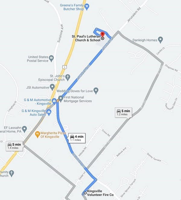 Kingsville Independence Day Parade Route