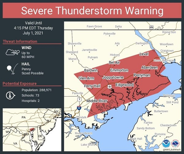 NWS Baltimore Storm Warning 20210701a