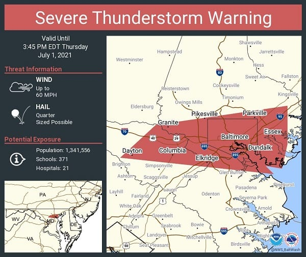 NWS Baltimore Storm Warning 202107a