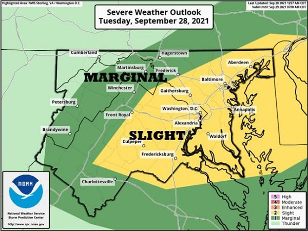 NWS Baltimore Storm Potential 20210928