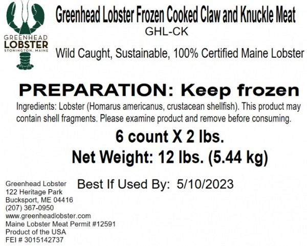 Greenhead Lobster Products Recall 20211004