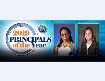 Monica Samples Charlene Behnke Principals of the Year