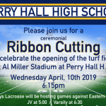 Perry Hall High Turf Field Ribbon Cutting