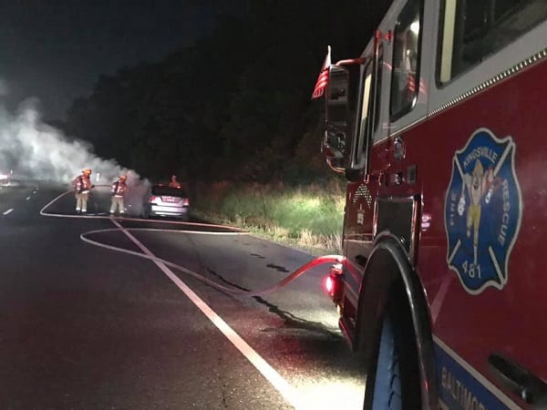 Automobile Fire I-95 20190704