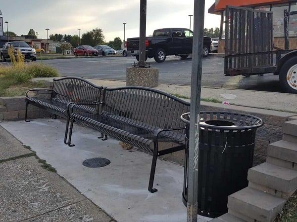 Belair Road Rossville Bench