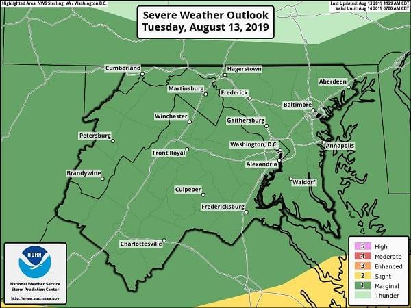 Severe Weather Baltimore 20190813