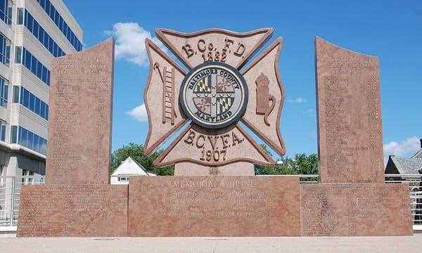 BCoFD Memorial Shrine Baltimore County Fire
