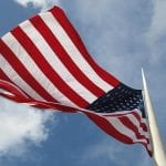 American Flag Windy