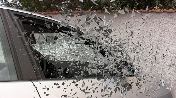 Car Crash Accident Broken Glass