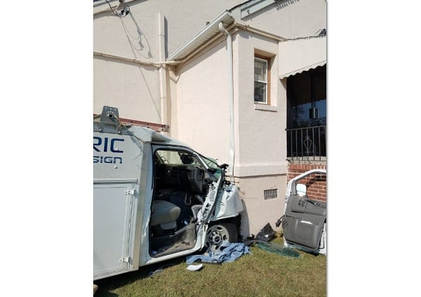 Vehicle vs Church Middle River 20191001