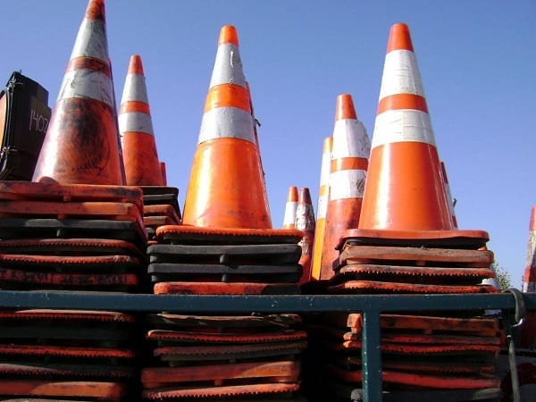 Construction Cone Traffic Hazard