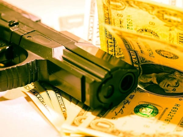 Armed Robbery Money Pistol Gun Crime