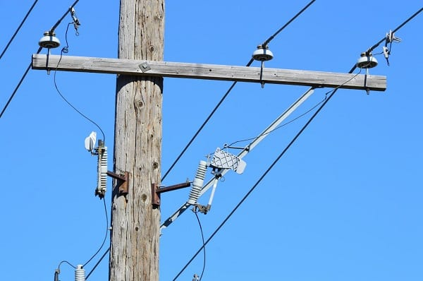 Power Line Utility Telephone Pole