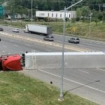 I-695 Tractor Trailer Crash Inner Loop 20200604