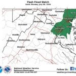 NWS Flood Watch Baltimore 20200706
